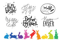 Easter hand drawn design elements Stock Image