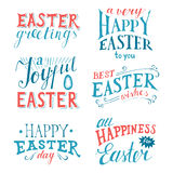 Easter hand drawn lettering set Royalty Free Stock Photography