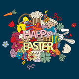 Easter hand drawn vector symbols and objects Stock Photography