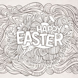 Easter hand lettering and doodles elements Royalty Free Stock Photography