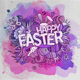 Easter hand lettering and doodles elements Royalty Free Stock Photo