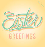 Easter hand lettering (vector) Royalty Free Stock Photo