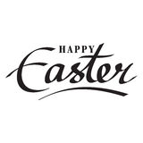 Easter hand lettering Stock Image