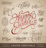 Easter hand lettering set (vector) stock photo