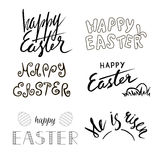 Easter hand written calligraphy. Hand drawn text. Christian motive. Lettering Stock Images