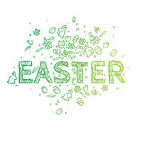 Easter handmade background. Pattern, text. Royalty Free Stock Images
