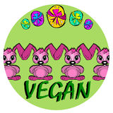 Easter: happy vegan bunny Stock Images