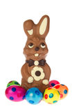 Easter hare from chocolate Stock Images