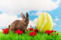 Easter hare with egg Royalty Free Stock Image