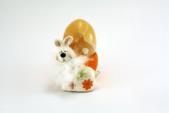 Easter hare yellow Royalty Free Stock Images