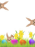 Easter hares Stock Photos