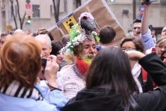 Easter hats parade Royalty Free Stock Photo