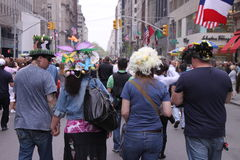 Easter hats parade Royalty Free Stock Images
