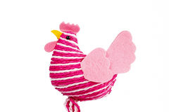 Easter Hen. Easter decorations - Easter Hen from colored cords royalty free stock images