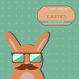 Easter hipster bunny card royalty free illustration