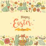 Cute Easter background Stock Images