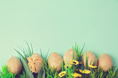 Easter holiday background with retro filter effect Stock Photos