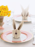 Easter holiday bunny napkin Stock Photography