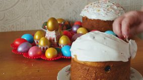 Easter holiday cake stock video footage