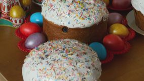 Easter holiday cakes stock video footage