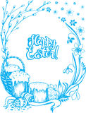 Easter holiday card Stock Images