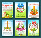 Easter holiday celebration banner template set Royalty Free Stock Photo