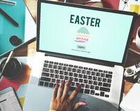 Easter Holiday Celebration Webpage Concept royalty free stock photo