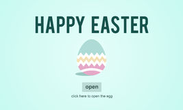 Easter Holiday Celebration Webpage Concept Royalty Free Stock Photography