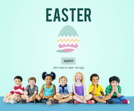 Easter Holiday Celebration Webpage Concept Stock Photography