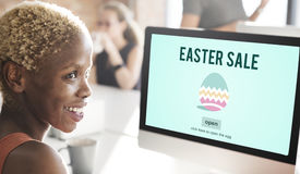 Easter Holiday Celebration Webpage Concept Royalty Free Stock Photos