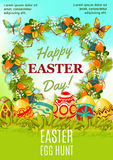 Easter holiday egg hunt cartoon poster design Royalty Free Stock Photos