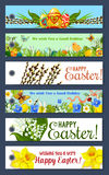 Easter holiday floral tag and gift label set Royalty Free Stock Images