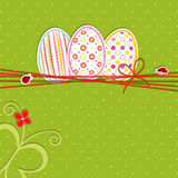 Easter holiday greeting card Stock Photos