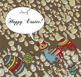 Easter Holiday Greeting With a Silly Chicken Royalty Free Stock Photos