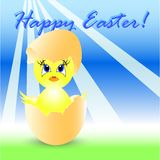 Easter holiday illustration with chicken Stock Photo