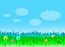 Easter holiday landscape royalty free illustration