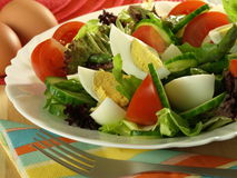 Easter holiday meal with fresh eggs Stock Photo