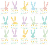 Easter Holiday pattern. Easter Holiday seamless pattern, Easter Rabbit, Easter Bunny. Greeting card background. Vector Illustration, vintage style. For Art stock illustration
