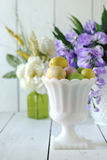 Easter Holiday Themed Still Life Scene in Natural Light Stock Image