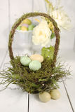 Easter Holiday Themed Still Life Scene in Natural Light Stock Images