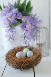 Easter Holiday Themed Still Life Scene in Natural Light Royalty Free Stock Photos