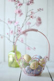 Easter Holiday Themed Still Life Scene in Natural Light Stock Photography
