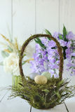 Easter Holiday Themed Still Life Scene in Natural Light Royalty Free Stock Photography