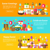 Easter Holiday Web Banners Royalty Free Stock Photo
