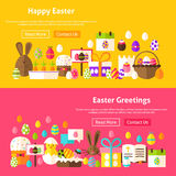 Easter Holiday Website Banners Stock Photography