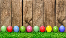 Easter holidays background. Colored eggs Stock Images
