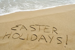 Easter holidays on the beach Royalty Free Stock Image