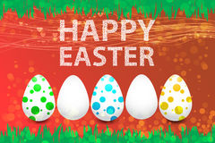 Easter holidays on a red background Royalty Free Stock Photo