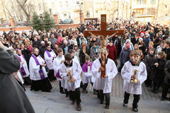 Easter Holy Week in Moscow Royalty Free Stock Photography