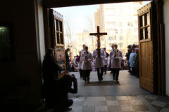 Easter Holy Week in Moscow Royalty Free Stock Image